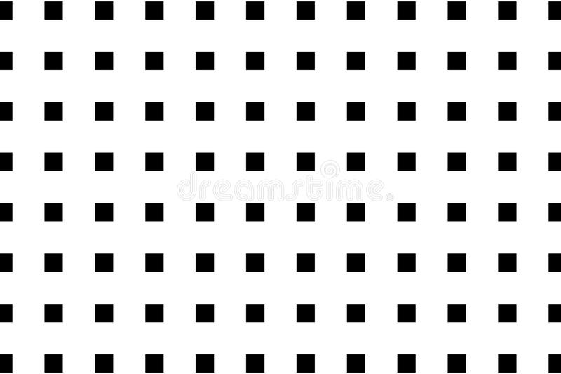 Square - geometric abstract vector pattern. Black and white, Lines - geometric abstract background stock illustration