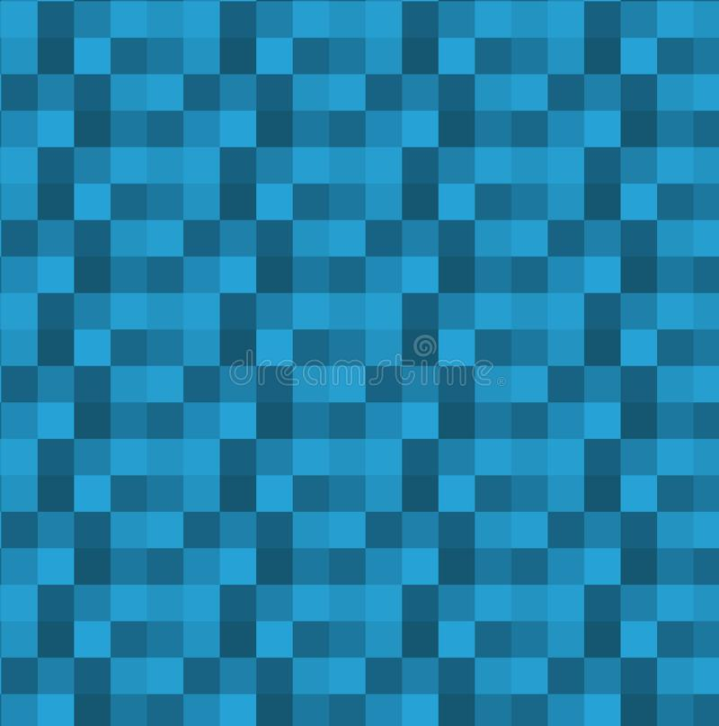 Square geometric blue abstract background. Vector royalty free illustration