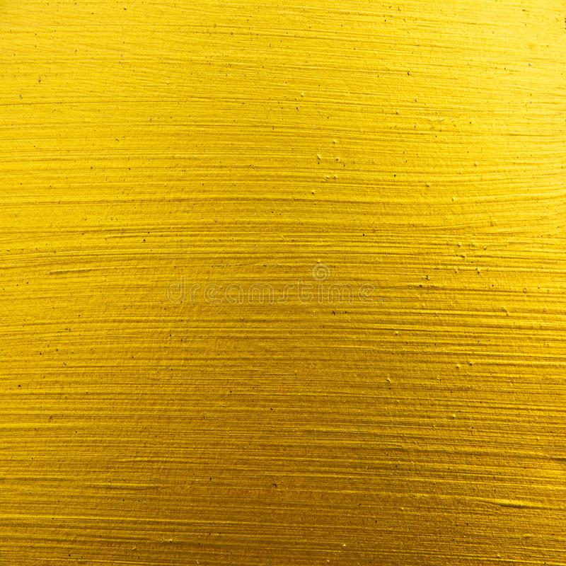 Square gold paint horizontal lines texture background. Stripe golden texture background surface royalty free stock photo