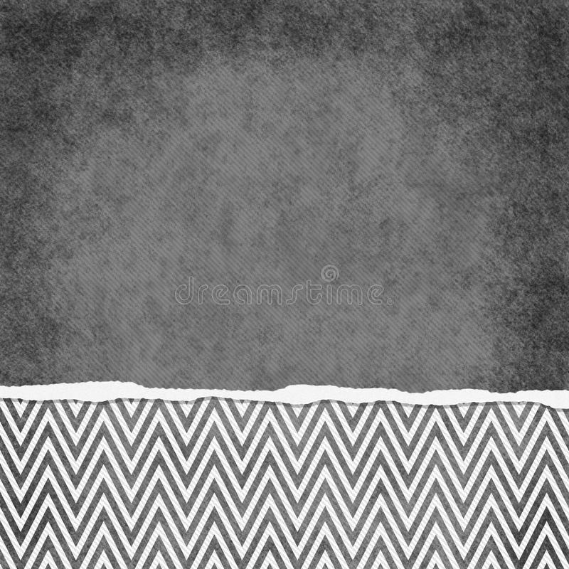 Square Gray and White Zigzag Chevron Torn Grunge Textured Background vector illustration