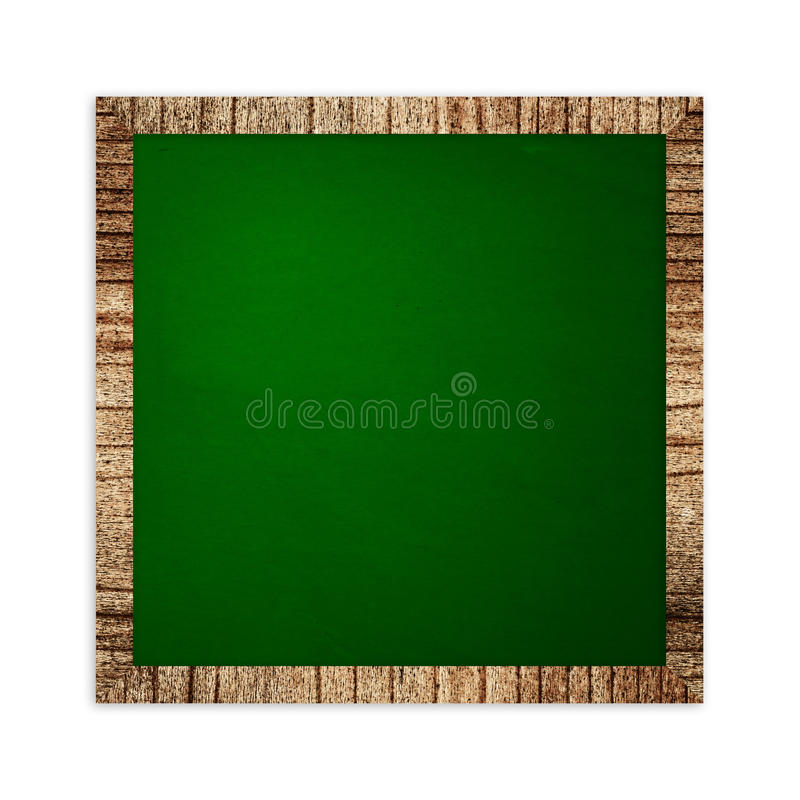 Square Green Frame On Wood Royalty Free Stock Image