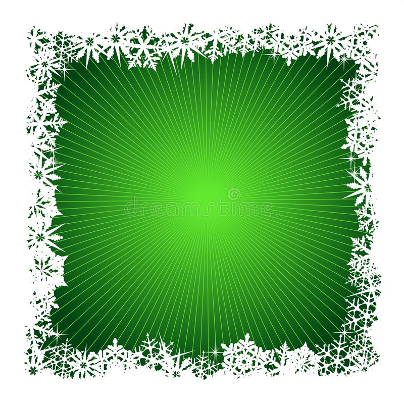 Free Square Green Snowflake Background Stock Images - 6971664