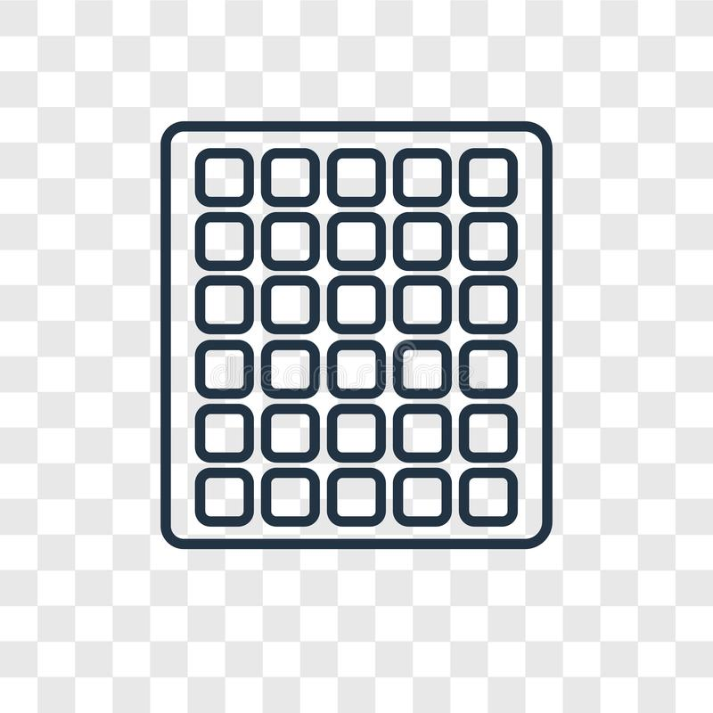 Square Grid Icon Vector Isolated On White Background, Logo