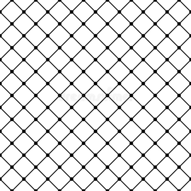 Vector square grid geometric seamless pattern. Dark modern design for decoration, prints, web stock illustration