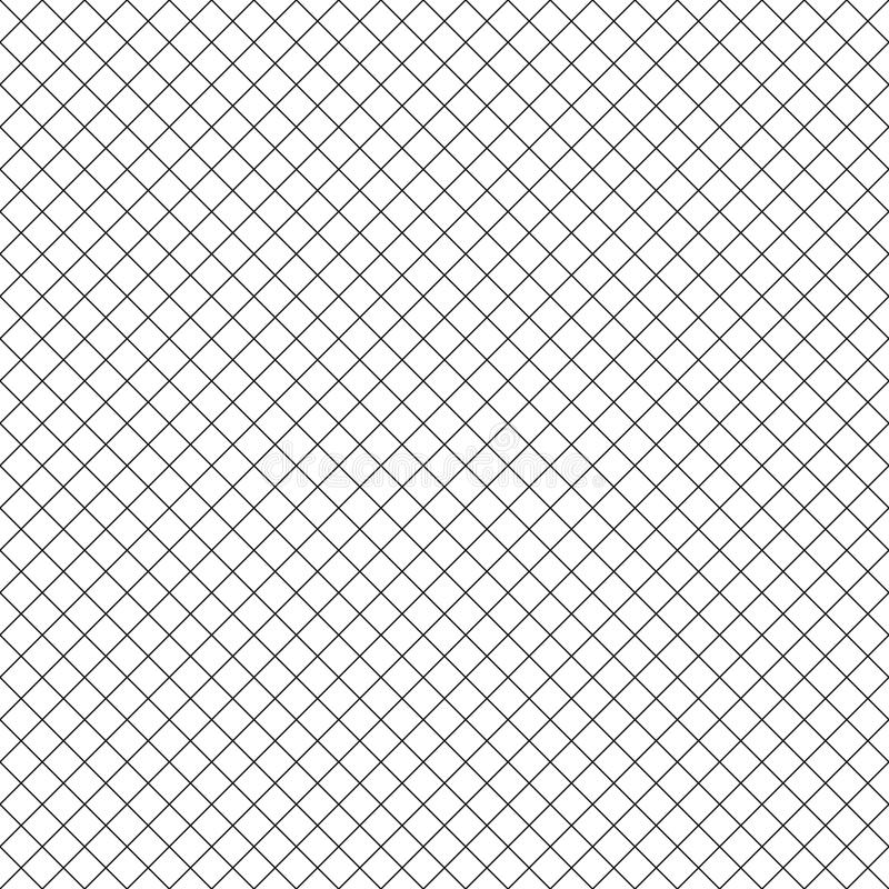 Square grid vector seamless pattern with thin lines, mesh. Chinese background. stock illustration