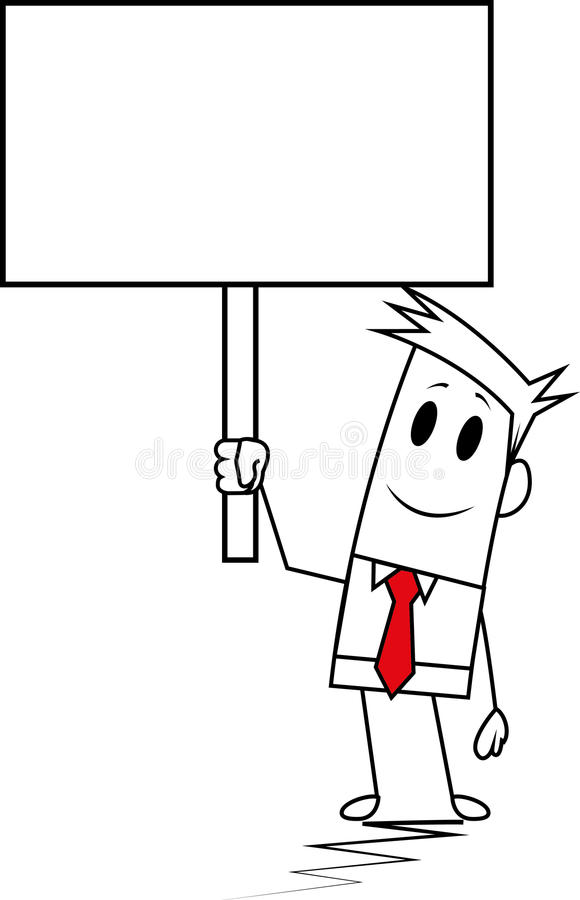 Square Guy-Signboard Stock Photography