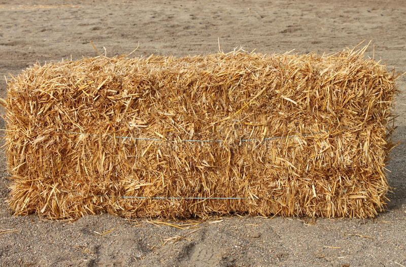 Square hay bale stock image