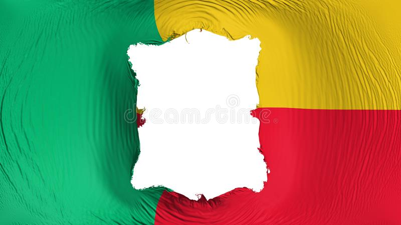 Square hole in the Benin flag royalty free illustration