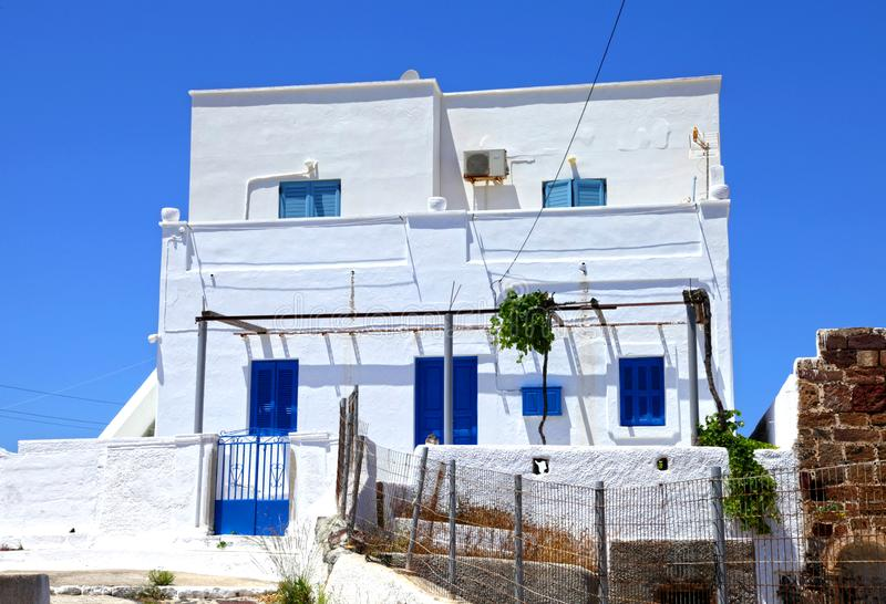 The traditional village of Megalochori in Santorini, Greece stock photography