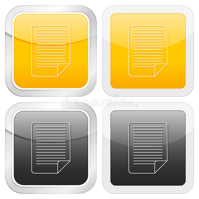 Square icon document royalty free illustration