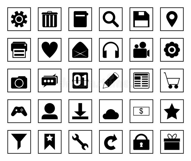 square icon set stock photography