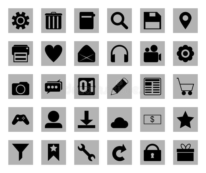 Square icon set royalty free stock photos