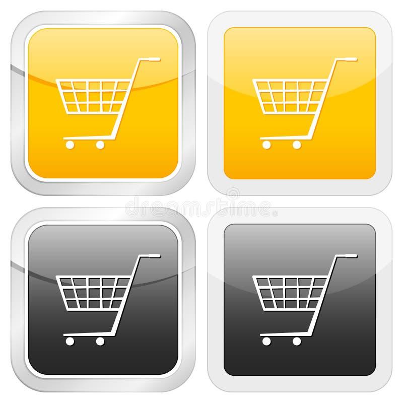 Square icon shopping cart symbol royalty free illustration