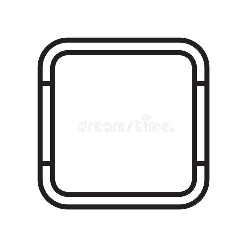 Square icon vector sign and symbol isolated on white background, Square logo concept vector illustration