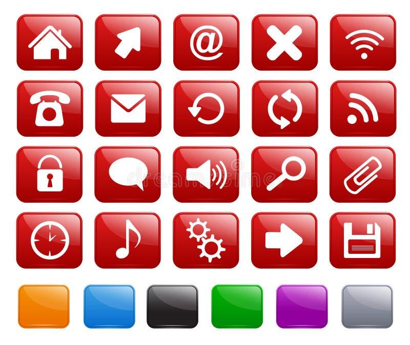 Square icons stock photos