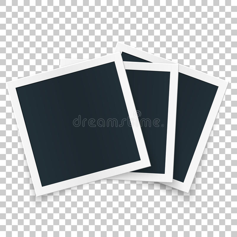 Square image frame set concept, single object with shadows on transparent background. royalty free illustration