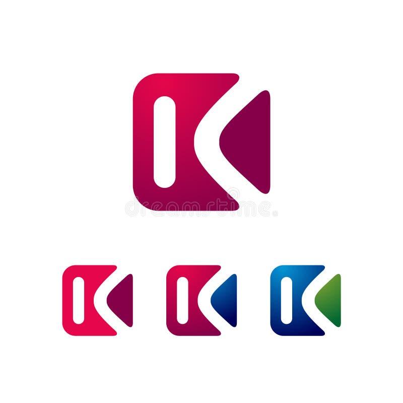 Square K Letter in Color Variations Business Logo Template.  vector illustration