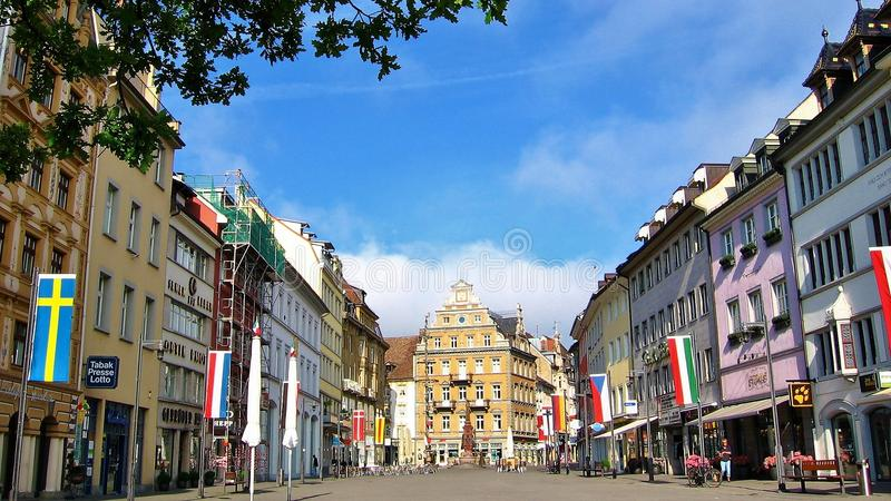 A square in Konstanz royalty free stock images