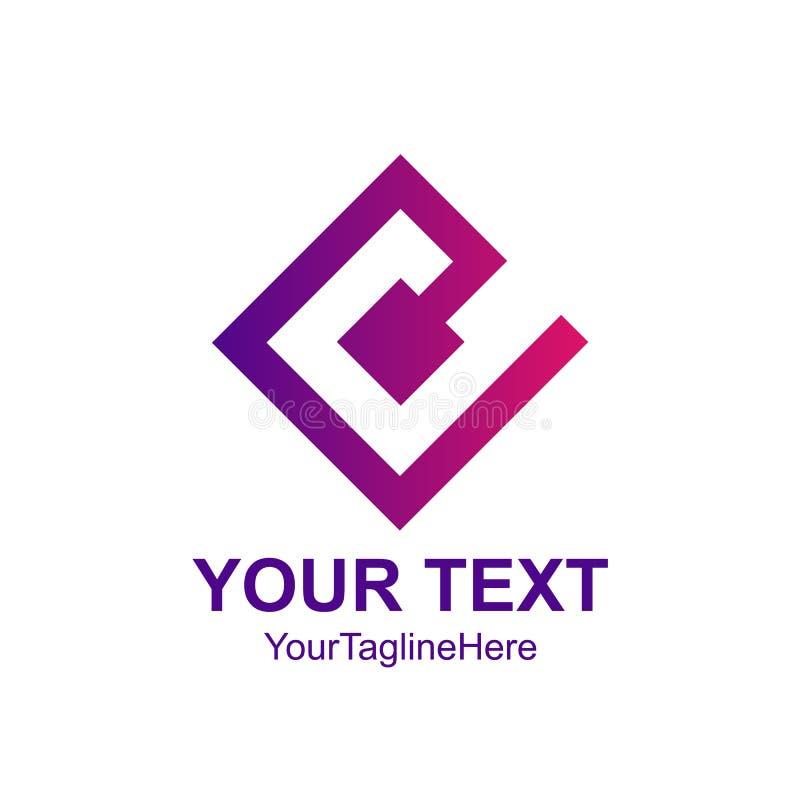 Square letter C logo design template element. Vector illustrator stock illustration