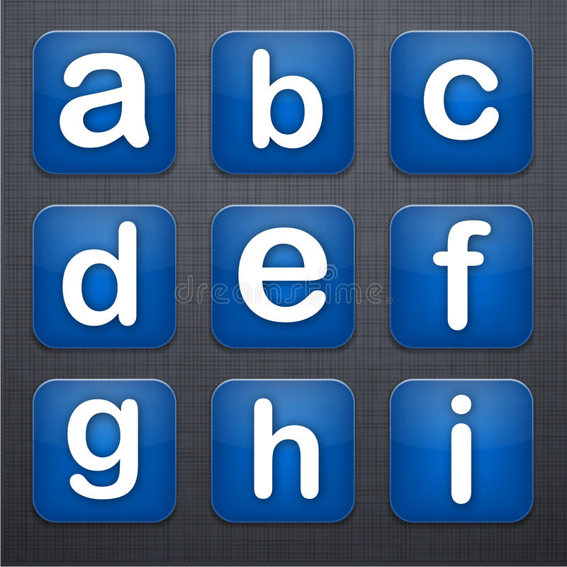 Square letter modern app icons.