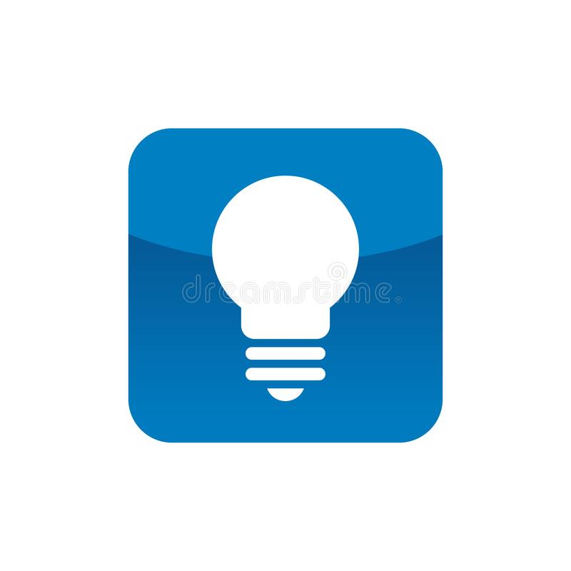 vector square blue icon lighting bulb. Download Square With Lightbulb Symbol Stock Vector - Illustration Of Contemporary, Innovation: 110405550 Blue Icon Lighting Bulb