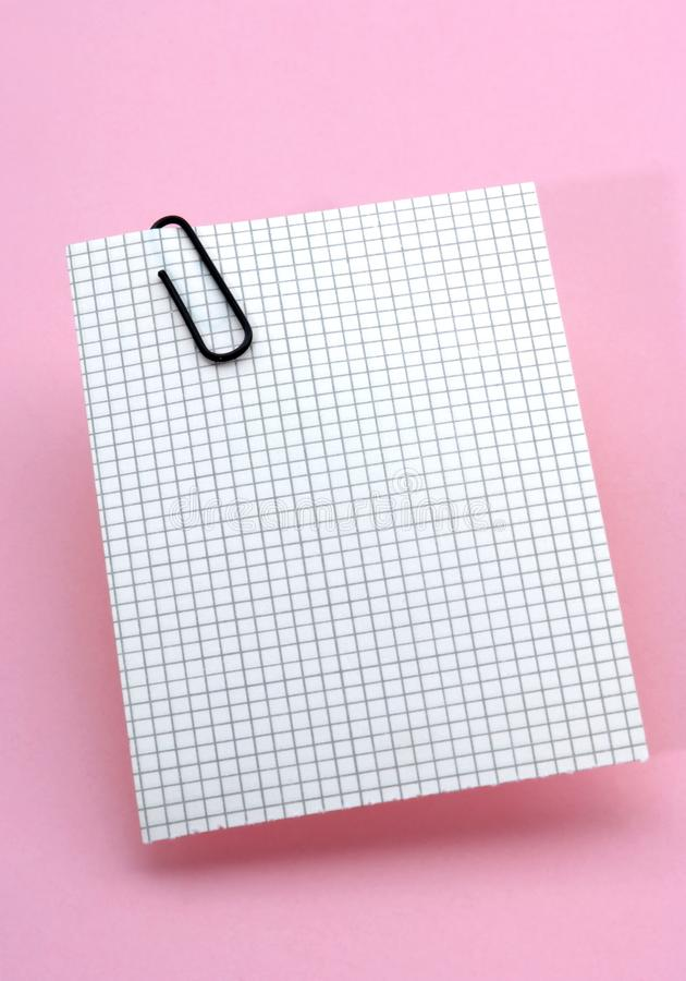 Square-lined note paper royalty free stock image