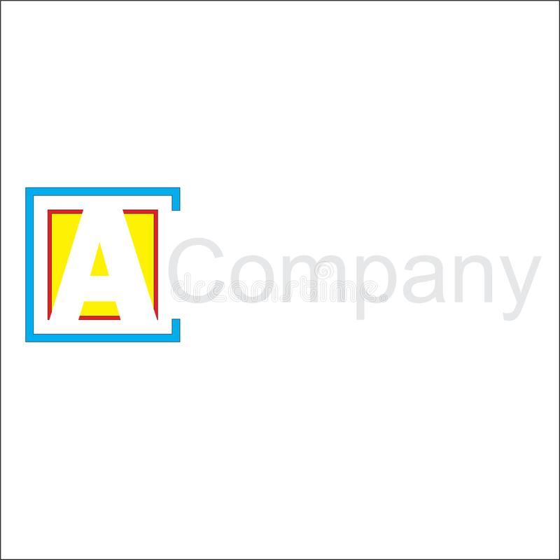 Square logo for a simple logo vector illustration