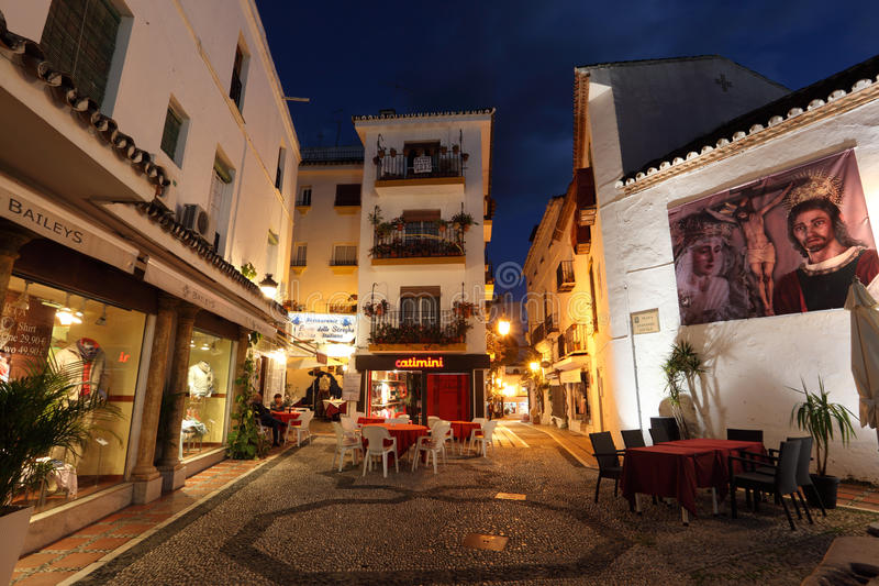 Square in Marbella, Spain. Square in the old town of Marbella, Andalusia Spain