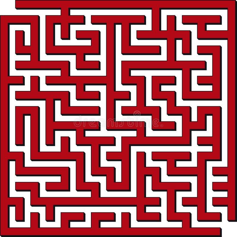 Square maze vector illustration