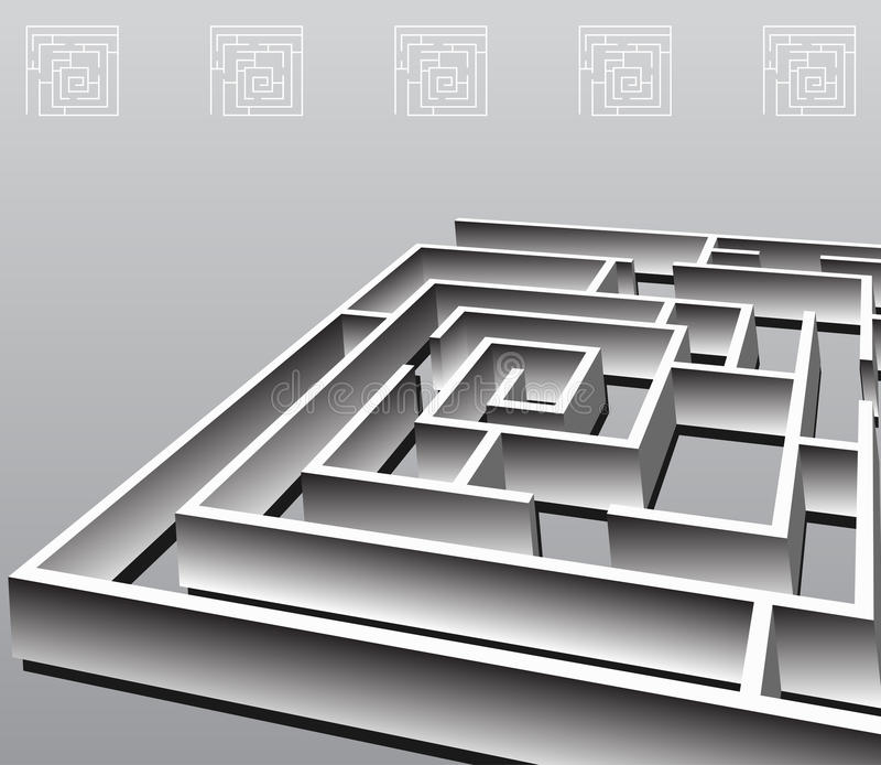 Square Maze royalty free illustration