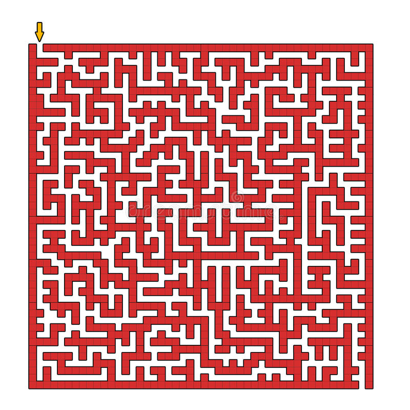 Square maze vector illustration