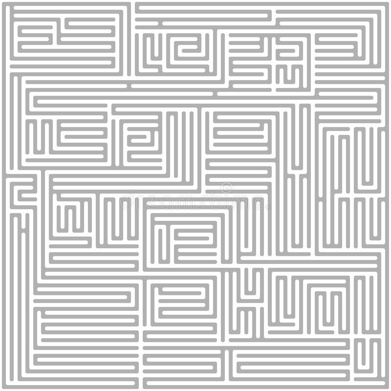 Download Square maze (Gray) stock photo. Image of seeking, mystery - 31591540