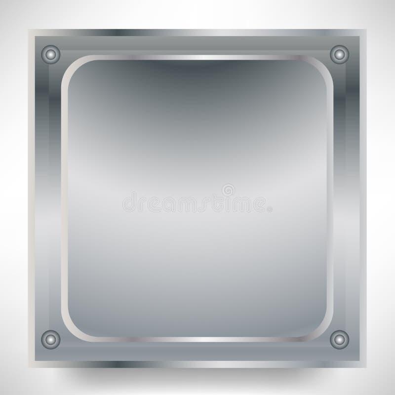 Square metallic sign royalty free illustration