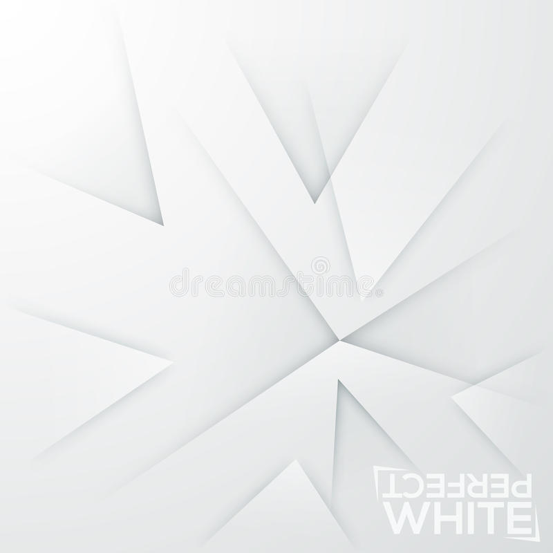 Square minimalistic background. White paper sheet with abstract sharpened elements pointed at same place stock illustration