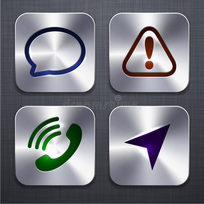Square modern app icons. royalty free illustration