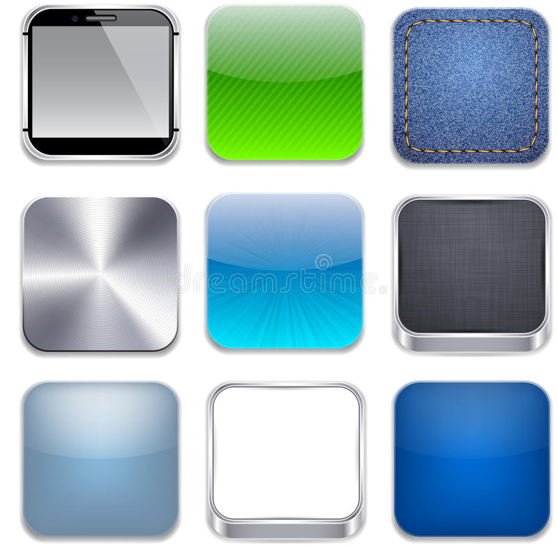 Square modern app template icons. vector illustration