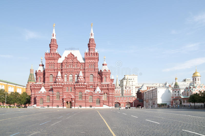 Square.Moscow.Russia rojo imagenes de archivo