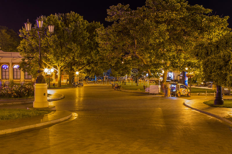 Square near the Odessa National Academic Theater of Opera and Ba royalty free stock images