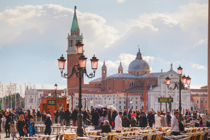 Square near the train staition in Venice, Italy royalty free stock image