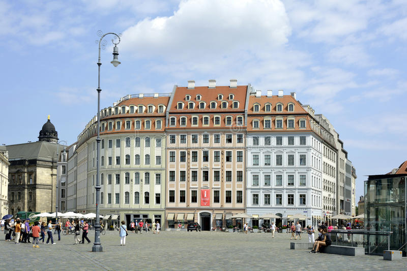 Square New Market in Dresden - Germany stock image
