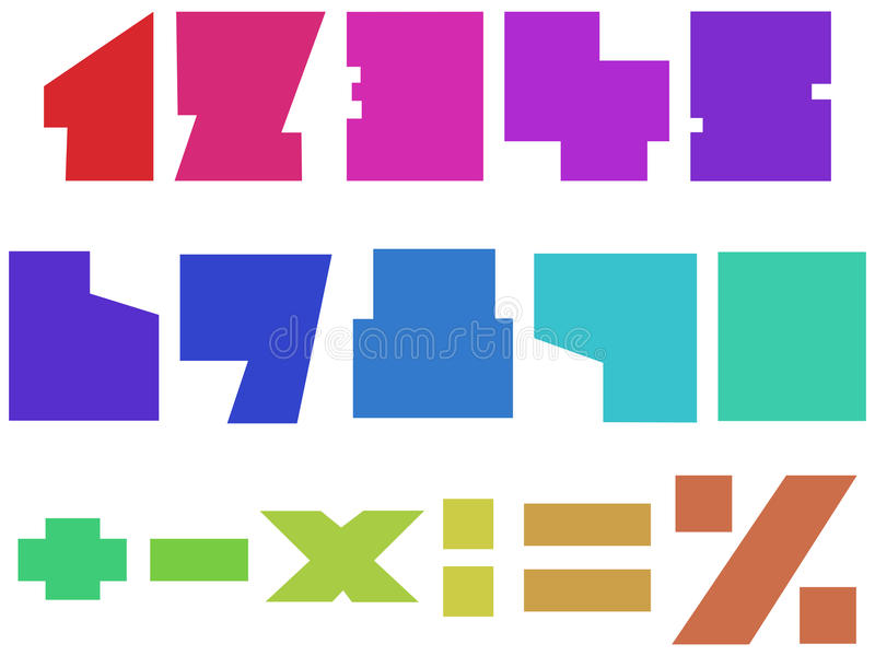 Square Numbers Royalty Free Stock Image