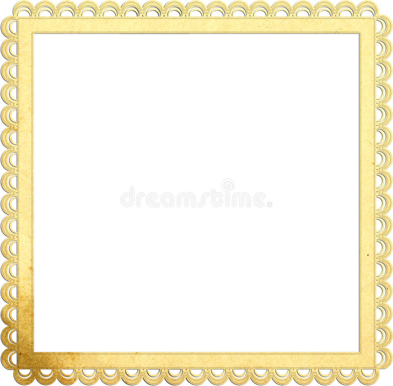 Square old paper frame with beautiful edges vector illustration