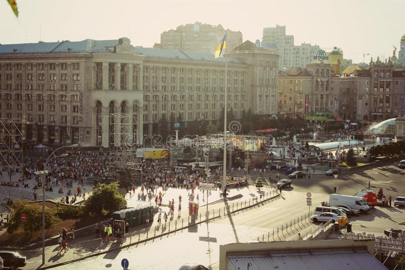 Square. Оne of the most beautiful places on Earth. Kyev? Ukraine royalty free stock image
