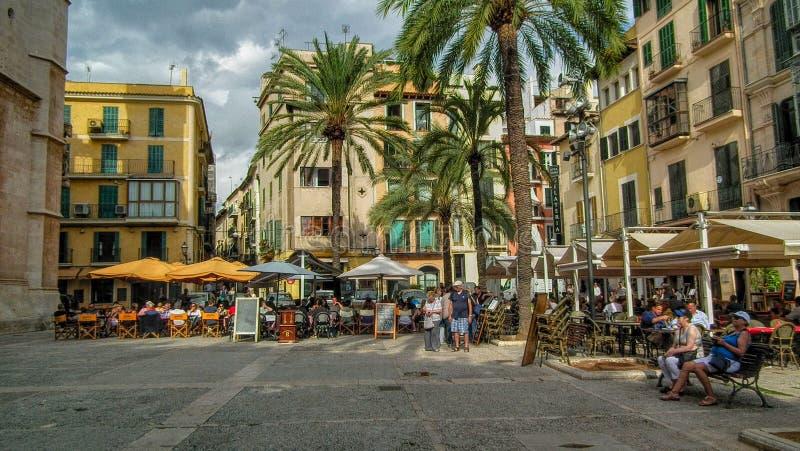 The square Palma royalty free stock image