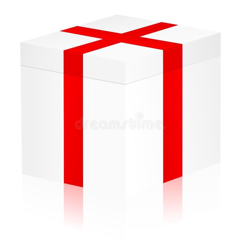Square paper box royalty free illustration
