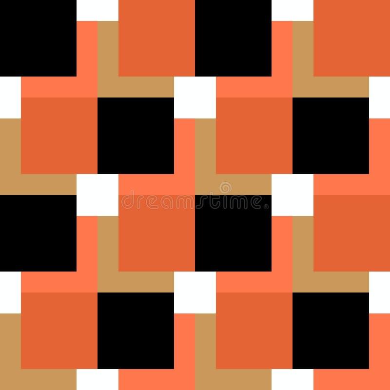 Square pattern black and orange on white background. eps 10 stock illustration