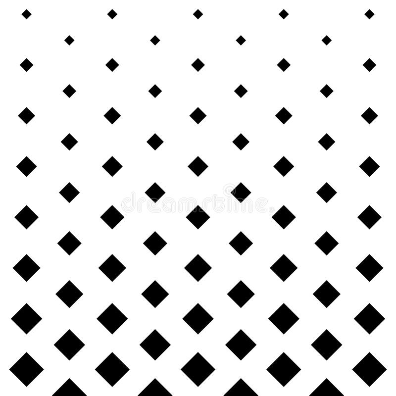 Square pattern design background in Black and white royalty free illustration