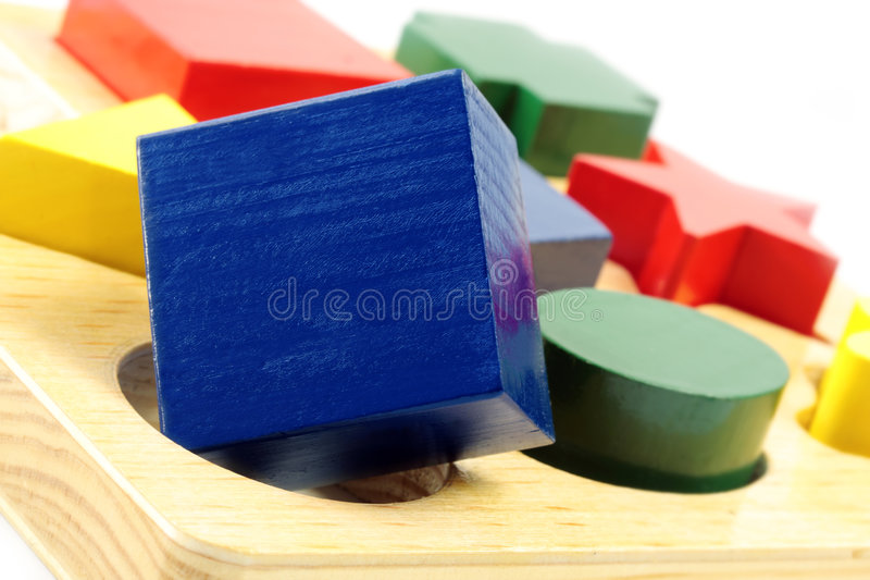 Square Peg in a Round Hole royalty free stock images
