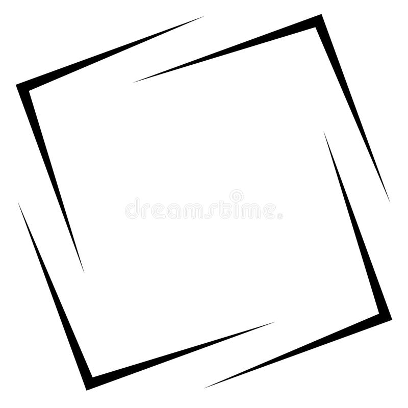 Square photo, picture frame, picture border. Conceptual crosshair, viewfinder square. Royalty free vector illustration vector illustration