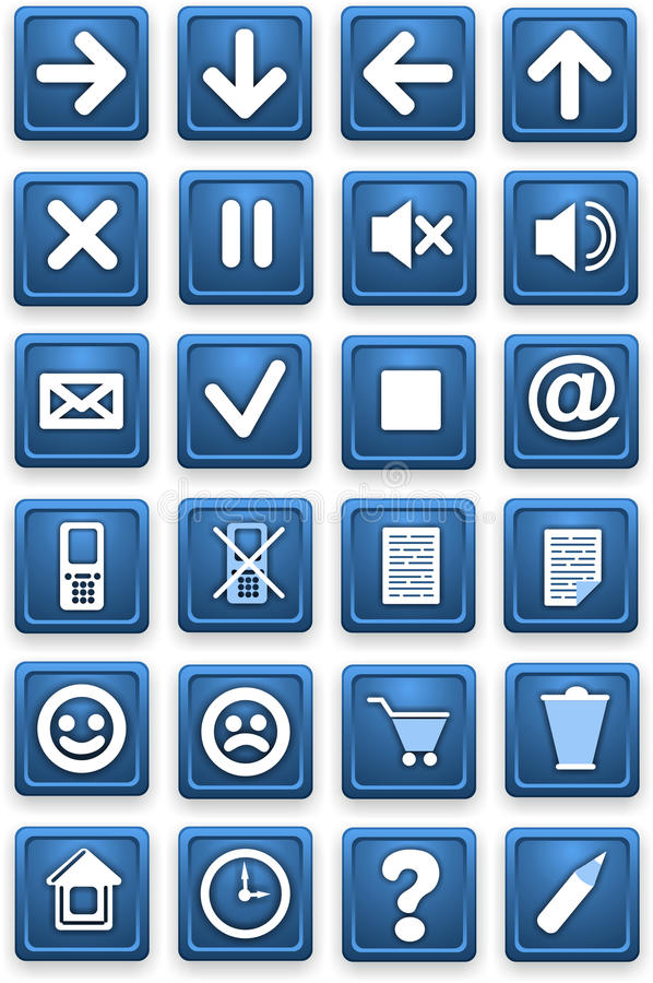 Download Square Pictograms Of Blue Color Stock Images - Image: 35359914